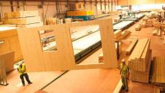 Панели cross-laminated timber (CLT)