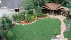 Планирования ландшафта возле дома